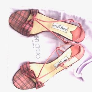 Jimmy Choo Shoes, Pink Check Fabric Candy Kid